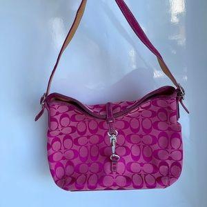 Fuchsia Pink COACH Signature Handbag 💞